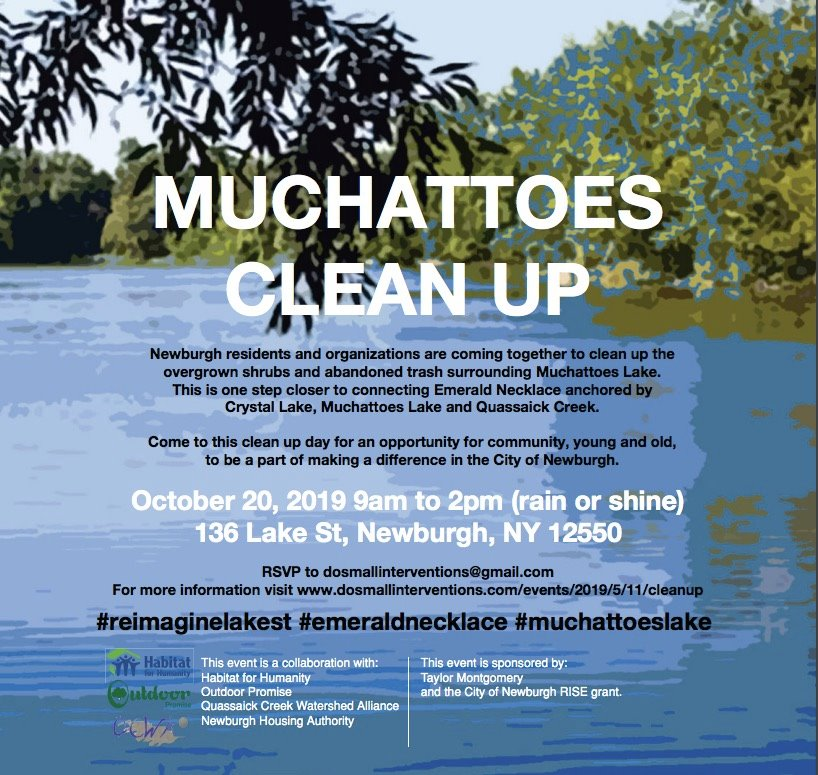 Muchattoes Lake Clean Up Newburgh NY