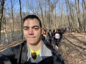 Ronald Zorrilla leading a hike to Snake Hill in Newburgh